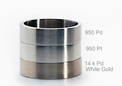 Палладий, платина и белое золото