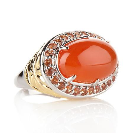 Золотое кольцо с сердоликом