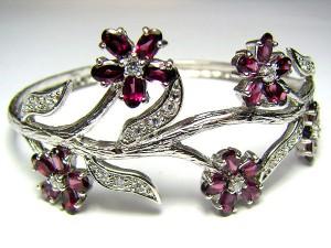 garnet-silver-bracelet-0330m